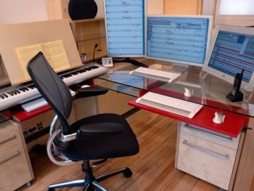 Musikzimmer in Birke massiv