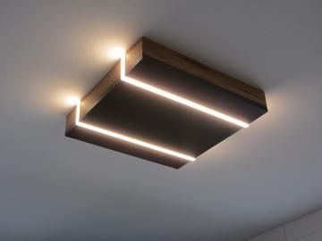 Holz-LED-Deckenleuchte